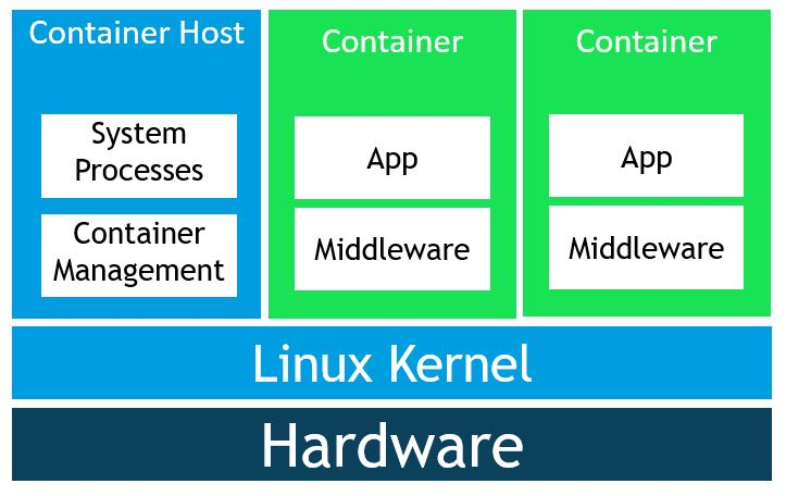 Image of a Linux container host.